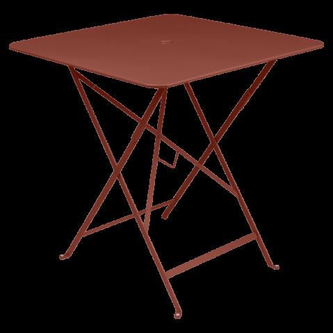 Table carrée BISTRO 71x71 ocre rouge de Fermob