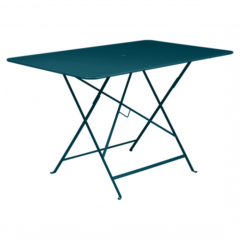 Table rectangulaire 117 x 77 cm BISTRO de Fermob, bleu acapulco