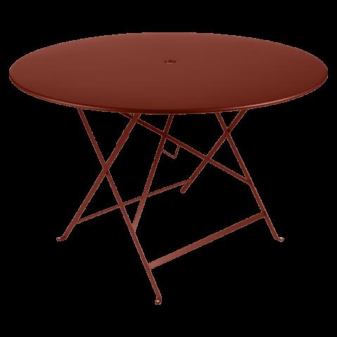 Table ronde pliante BISTRO de Fermob, D.117 x H.74 cm, ocre rouge