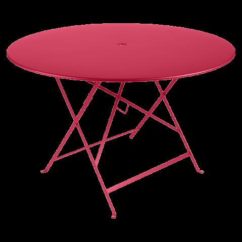Table ronde pliante BISTRO de Fermob, D.117 x H.74 cm, Rose praline