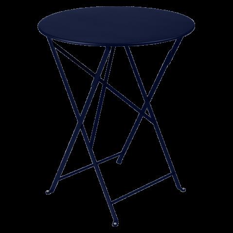 Table ronde pliante BISTRO de Fermob, D.60 x H.74 cm, Bleu abysse