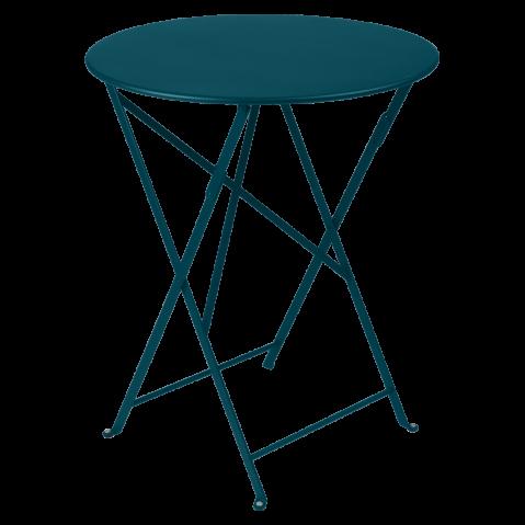 Table ronde pliante BISTRO de Fermob, D.60 x H.74 cm, bleu acapulco