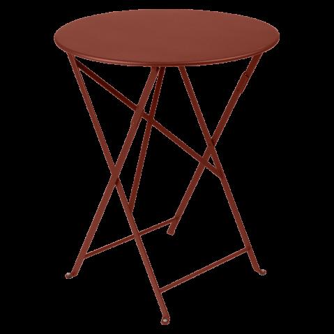Table ronde pliante BISTRO de Fermob, D.60 x H.74 cm, ocre rouge