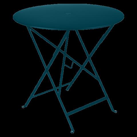 Table ronde pliante BISTRO de Fermob, D.77 x H.74 cm, bleu acapulco