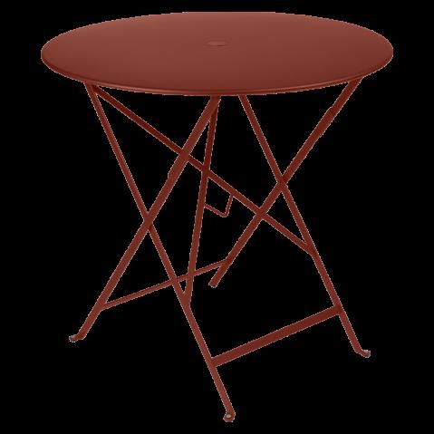 Table ronde pliante BISTRO de Fermob, D.77 x H.74 cm, ocre rouge