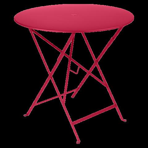 Table ronde pliante BISTRO de Fermob, D.77 x H.74 cm, Rose praline