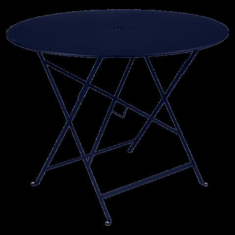Table ronde pliante BISTRO de Fermob, D.96 x H.74 cm, Bleu abysse