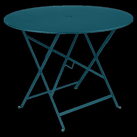 Table ronde pliante BISTRO de Fermob, D.96 x H.74 cm, bleu acapulco