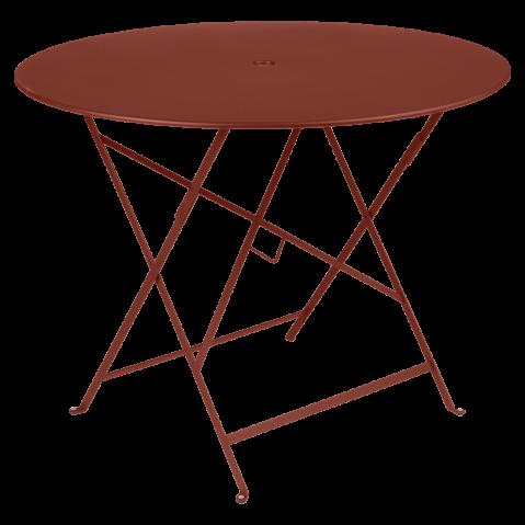 Table ronde pliante BISTRO de Fermob, D.96 x H.74 cm, ocre rouge