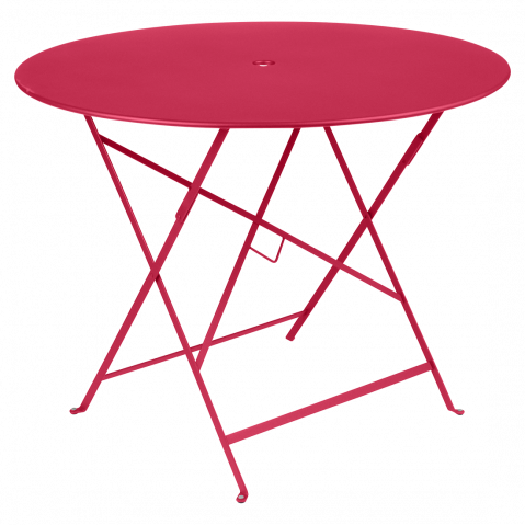 Table ronde pliante BISTRO de Fermob, D.96 x H.74 cm, Rose praline