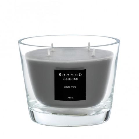 Bougie MAX 10 WHITE RHINO de Baobab Collection
