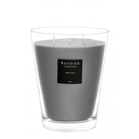 Bougie MAX 24 WHITE RHINO de Baobab Collection