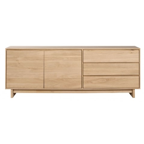 Buffet OAK WAVE en chêne d'Ethnicraft , 2 portes / 3 tiroirs