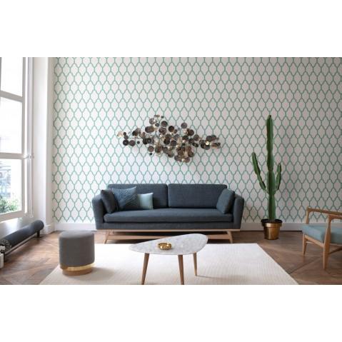 canape 210 de red edition tissu velours bleu canard. Black Bedroom Furniture Sets. Home Design Ideas