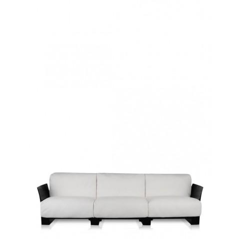 Canapé 3 places POP OUTDOOR de Kartell, Ikon Blanc, Structure noir