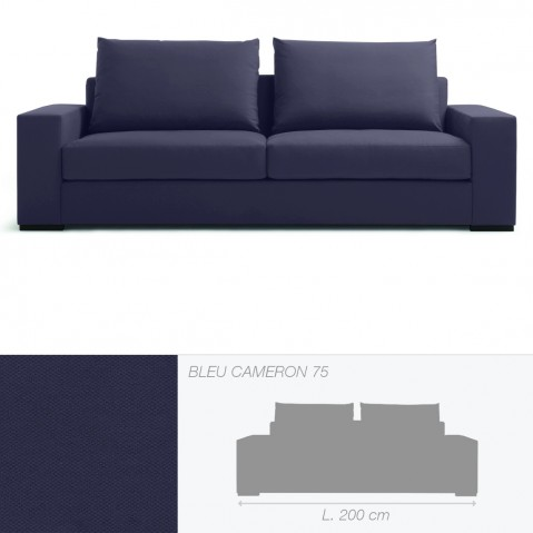 Canapé BRAD 2,5 places de Marie's Corner bleu Cameron 75