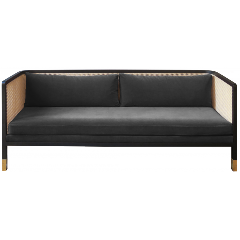 canap cannage de red edition tissu velours gris chic. Black Bedroom Furniture Sets. Home Design Ideas