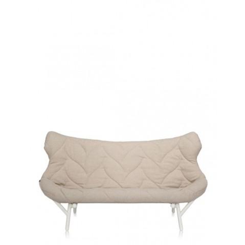 Canapé FOLIAGE de Kartell, Beige, Structure Blanc
