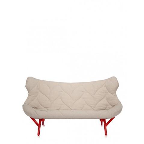Canapé FOLIAGE de Kartell, Beige, Structure rouge