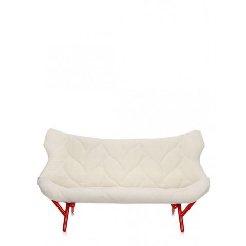 Canapé FOLIAGE de Kartell, Blanc, Structure rouge