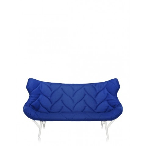 Canapé FOLIAGE de Kartell, Bleu, Structure Blanc