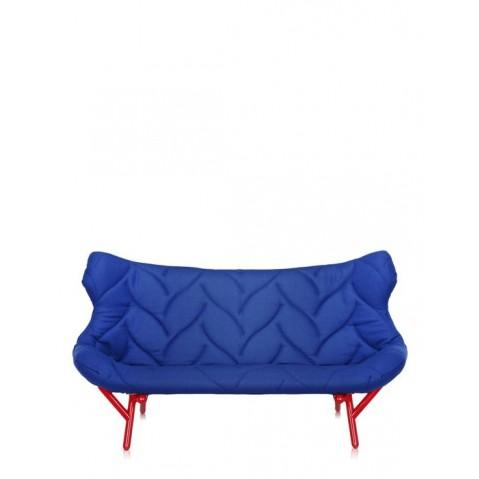 Canapé FOLIAGE de Kartell, Bleu, Structure rouge