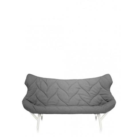 Canapé FOLIAGE de Kartell, Gris, Structure Blanc