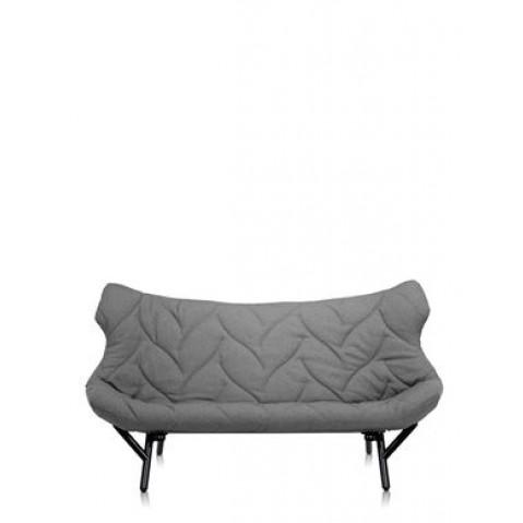Canapé FOLIAGE de Kartell, Gris, Structure noir