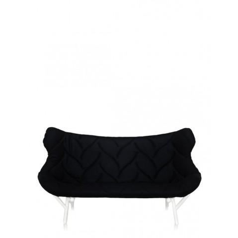 Canapé FOLIAGE de Kartell, Noir, Structure Blanc