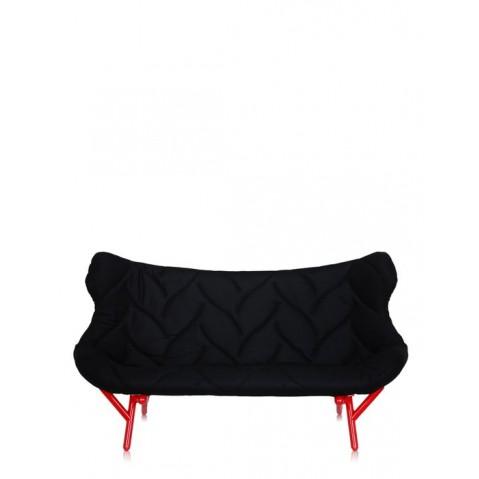 Canapé FOLIAGE de Kartell, Noir, Structure rouge