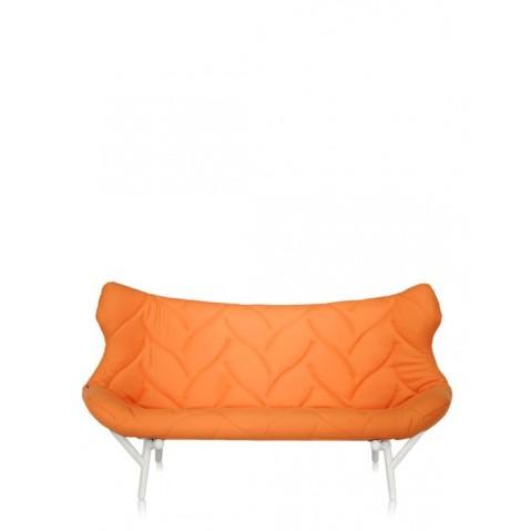 Canapé FOLIAGE de Kartell, Orange, Structure Blanc