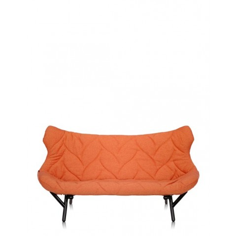 Canap foliage de kartell orange structure noir for Canape kartell