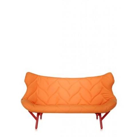Canapé FOLIAGE de Kartell, Orange, Structure rouge