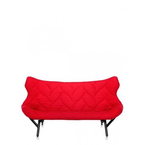 Canapé FOLIAGE de Kartell, Rouge, Structure noir