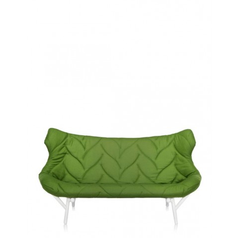 Canapé FOLIAGE de Kartell, Vert, Structure Blanc