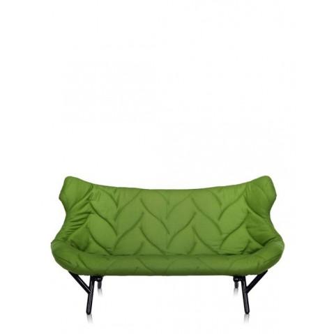 Canapé FOLIAGE de Kartell, Vert, Structure noir