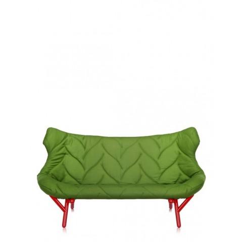 Canapé FOLIAGE de Kartell, Vert, Structure rouge