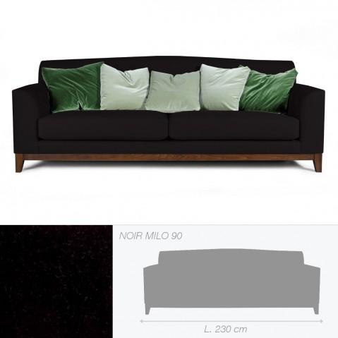 Canapé HELENA de Marie's Corner 3 places noir