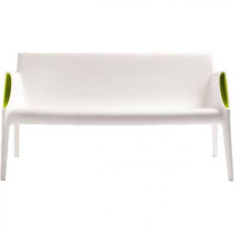 Canapé MAGIC HOLE de Kartell, Blanc-Vert