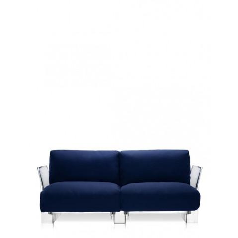 Canapé POP OUTDOOR de Kartell, Bleu, Structure transparente