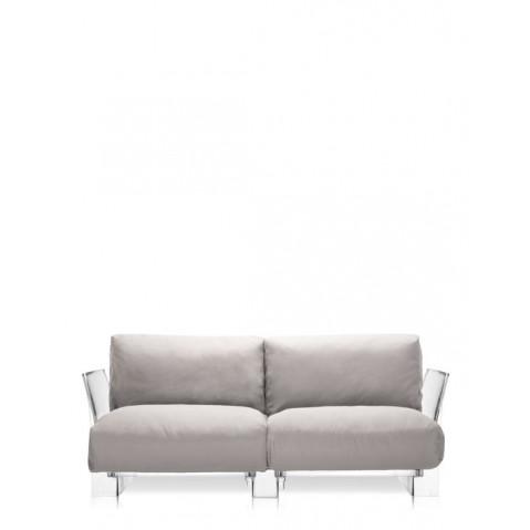 Canapé POP OUTDOOR de Kartell, Ecru, Structure transparente