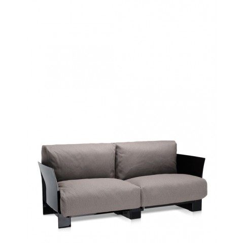 canap pop outdoor de kartell gris tourterelle structure noir. Black Bedroom Furniture Sets. Home Design Ideas