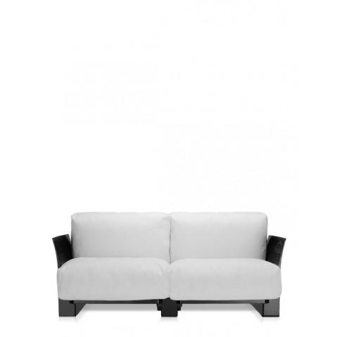 Canapé POP OUTDOOR de Kartell, Ikon Blanc, Structure noir