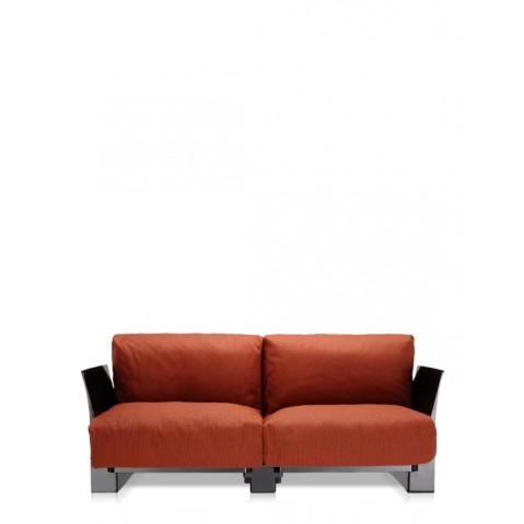 Canapé POP OUTDOOR de Kartell, Orange, Structure noir