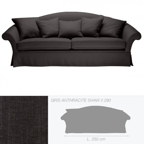 Canapé QUEENS 3,5 places de Marie's Corner gris anthracite Shaw II 290