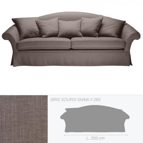 Canapé QUEENS 3,5 places de Marie's Corner gris souris Shaw II 283