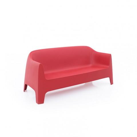 Canapé SOLID de Vondom, Rouge