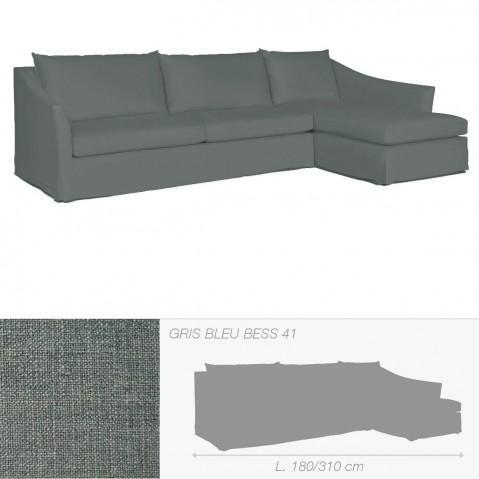 Canapé WASHINGTON de Marie's Corner gris bleu