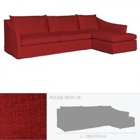 Canapé WASHINGTON de Marie's Corner rouge