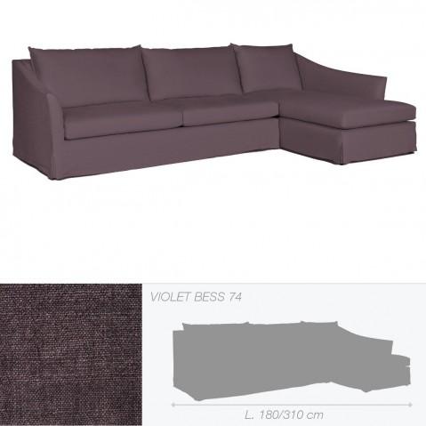 Canapé WASHINGTON de Marie's Corner violet